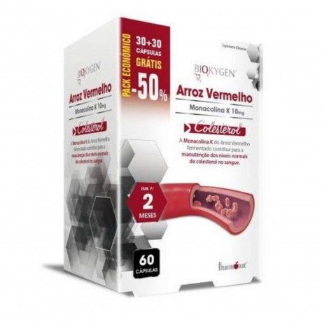 ARROZ VERMELHO MONACOLINA 60 CAPS