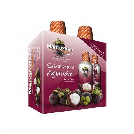 Pack Mangosteen + Selénio + Vita A 2x1000ml