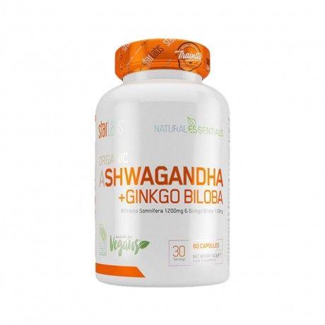 Ashwagandha + Ginkgo Biloba 60 Caps